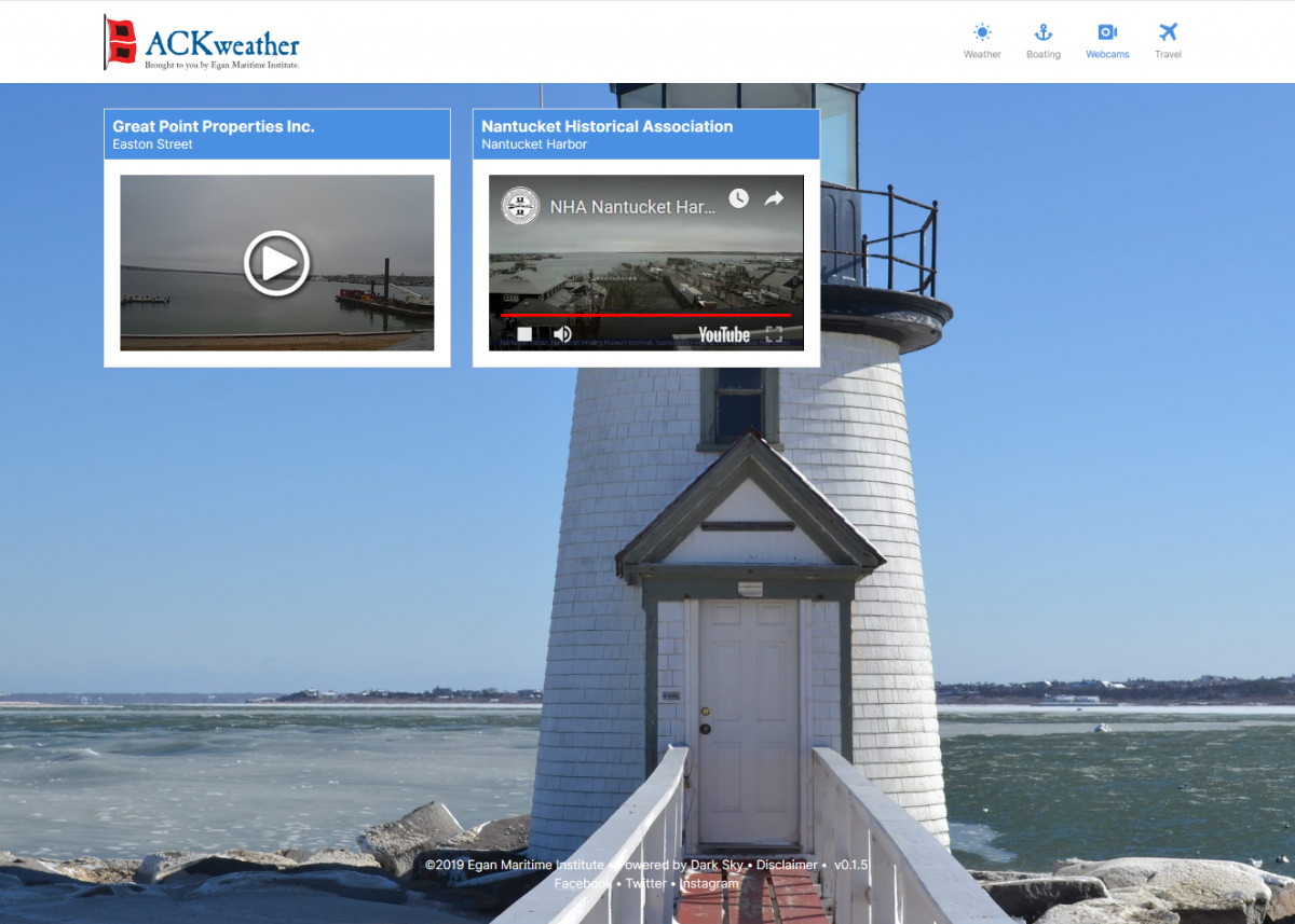 Redesigned ACKweather Website and App Redesigned ACKweather